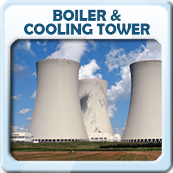 boiler and cooling tower